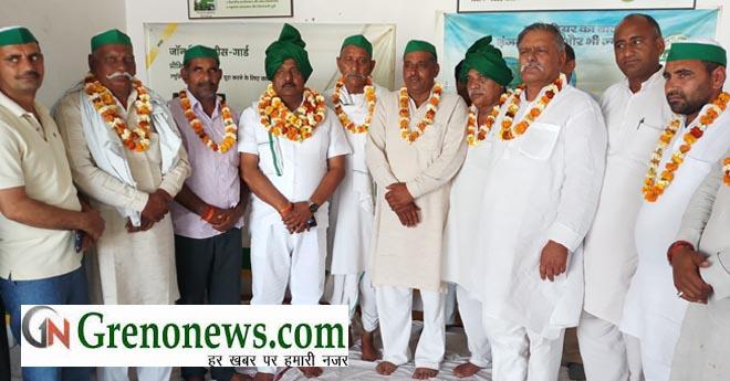 BHARATIYA KISAN UNION WELCOMED RAJBEE SINGH JADAUN
