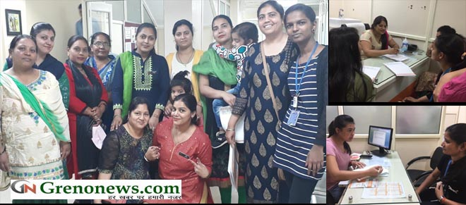 FREE HEALTH CAMP IN PROMHEX AMRAPALI HOSPITAL GREATER NOIDA ON INTERNATIONAL WOMENS DAY