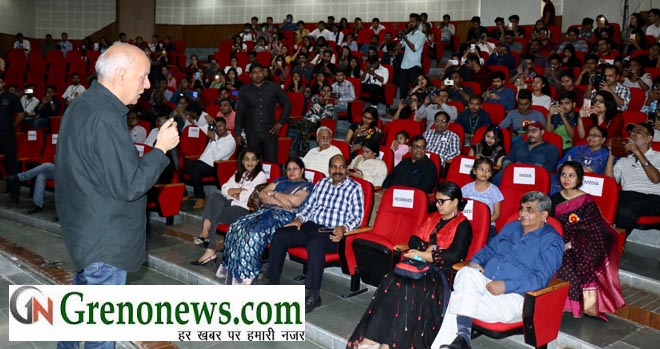 MAHESH BHATT IN MEDIA MELA AT SHARDA UNIVERSIT