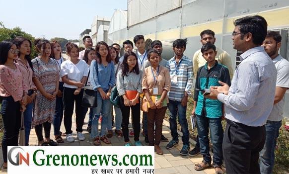 STUDENTS OF MEWAR AGRICULTIURE UNIVERSITY VIST IN SAVEER BIOTECH