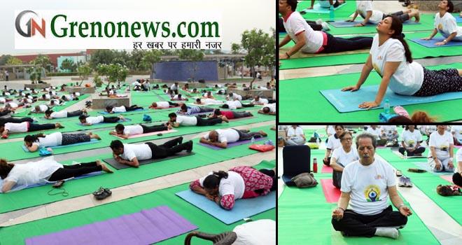 Gardens Galleria Hosts Yogautsav 2018, Calls for #HumFitTohIndiaFit Challenge