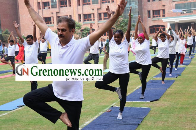 INTERNATIONAL YOGA DAY SHARDA UNIVERSITY