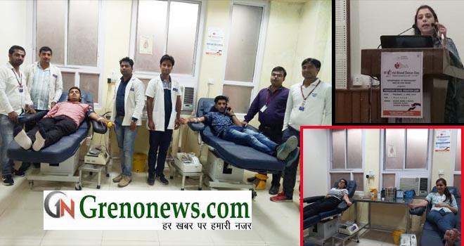 SHARDA UNIVERSITY BLOOD DONATION CAMP