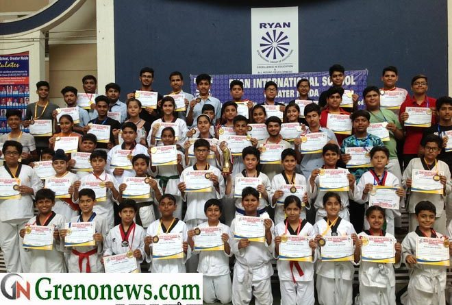 RYAN BAGGED CHAMPIONS TROPHY AT DELHI TAEKWONDO COMPETITION