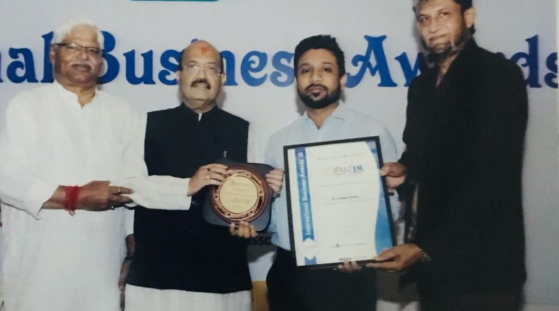 Dr. Rahul Tyagi awarded as best physiotherapist in north India.