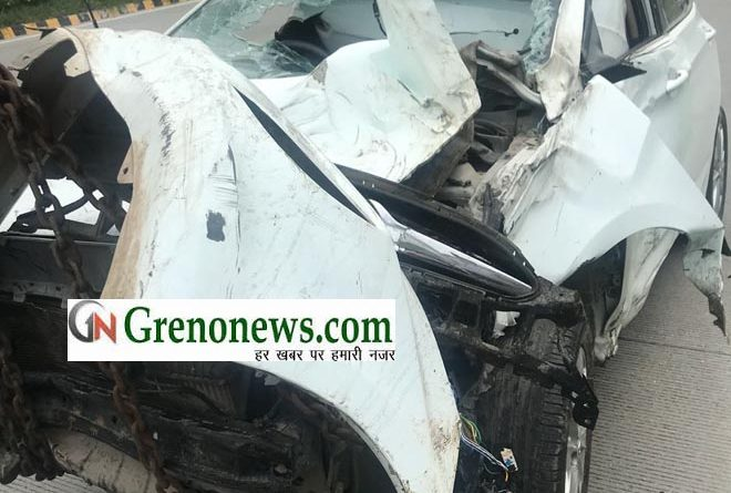 THREE MBBS STUDENTS INJURED IN ROAD ACCIDENT AT YAMUNA EXPRESSWAY GREATER NOIDA