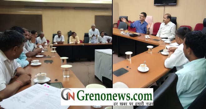 meeting jewar farmers