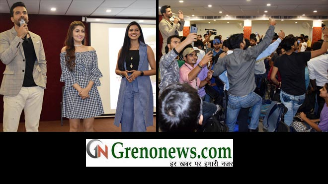 STAR CAST OF FALSAFA MOVIE REACHED TO IIMT COLLEGE FOR MOVIE PROMOTION