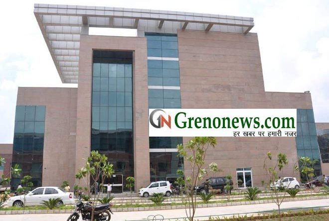BUILDING OF GNIMS MEDICAL COLLEGE GREATER NOIDA