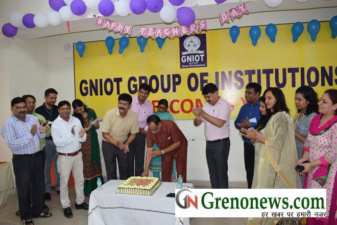 teachers day celebrated in gniot