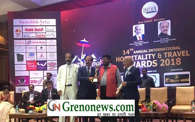 India Expo Mart has been once again awarded as The Best MICE venue of the year and its Chairman Shri Rakesh Kumar has been honored as Best MICE Person for the year 2018