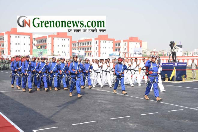 Marching Continget at ITBP Raising Day Parade in Greater Noida