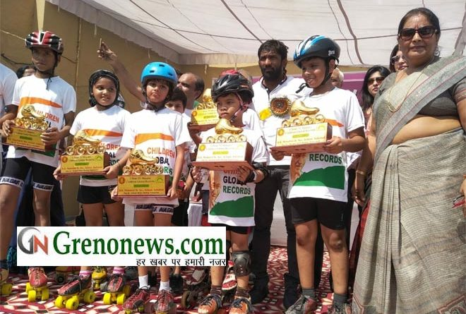 GREATER NOIDA SKATERS MAKES RECORD IN SONIPAT