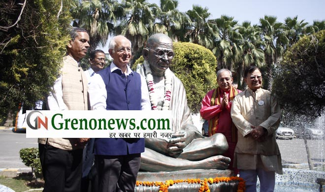 Unveiling of Gandhi Statue on foundation day of bimtech