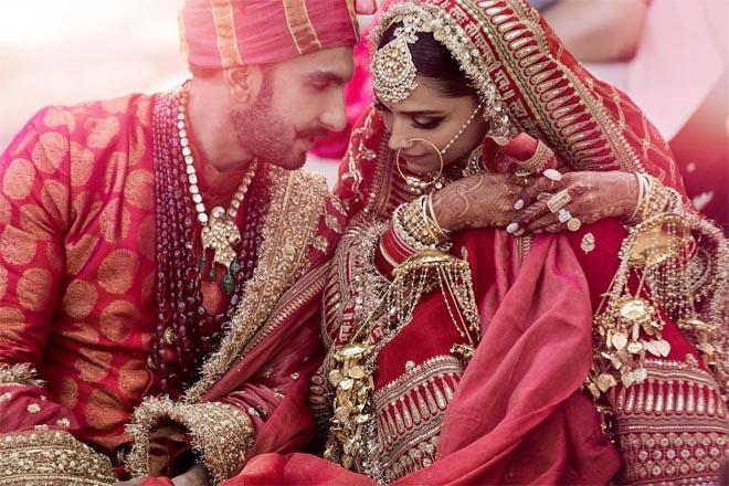 Actors Deepika padukone Ranveer wedding