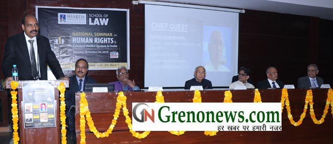 NATIONAL SEMINAR IN SCHOOL OF LAW SHARDA UNIVERSITY