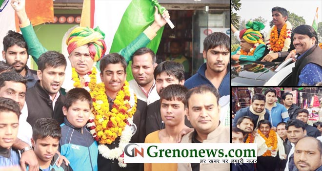 GOLF CHAMPION ARJUN BHATI WARM WELCOMED IN NOIDA AND GREATER NOIDA - GRENONEWS