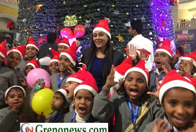 GAUTAM BUDHA SOCIETY CELEBRATED CHRISTMAS DAY WITH ECONOMICALLY WEAK CHILDRENS- GRENONEWS