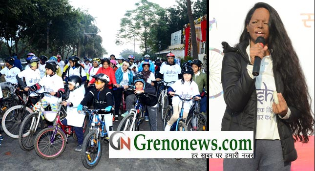 CYCLOTHON ORGANISE BY GL BAJAJ AND DISHA IN REMEBRANCE OF NIRBHYA - GRENONEWS