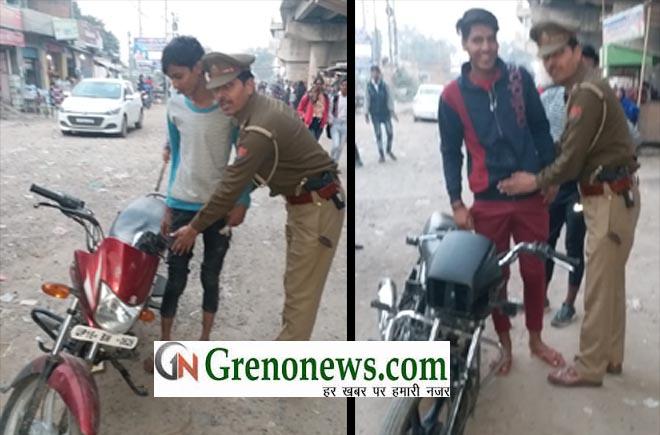 DANKAUR POLICE CHECKING