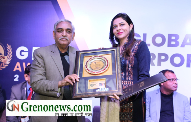 GAUTAM BUDH UNIVERSITY Dr. SANDHYA TARAAR FECILITATED YOUNG RESEARCHER AWARD- GRENONEWS