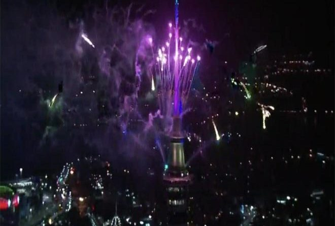 NewZealand's Auckland Welcomes New Year 2019 with fireworks- GRENONEWS