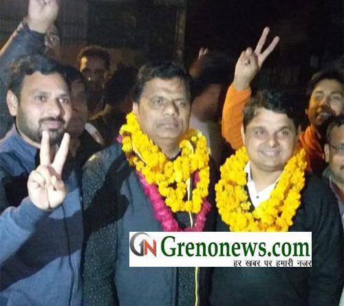 MANOJ BHATI BODAKI ELECTED AS PRESIDENT DISTRICT COURT BAR ASSOCIATION GAUTAMBUDH NAGAR