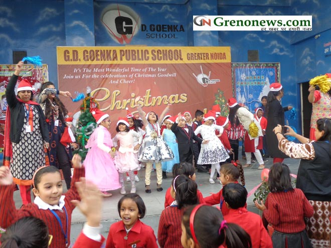 christmas celebration at gd goenka public school geater noida