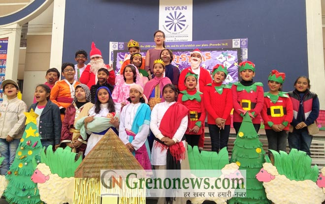 christmas celebration at ryan international school geater noida