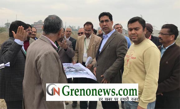 CEO GREATER NOIDA NARENDRA BHUSHAN VISITED GRENO WEST - GRENONEWS