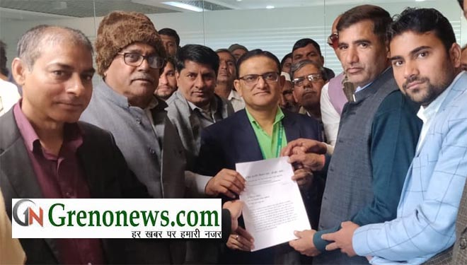 FARMERS GIVE MEMORANDUM TO ACEO GREATER NOIDA AUTHORITY - GRENONEWS
