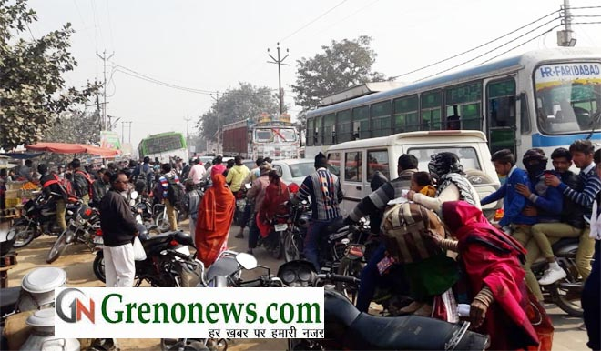 ROAD JAM PROBLEM IN JAHANGIRPUR GREATER NOIDA- GRENONEWS