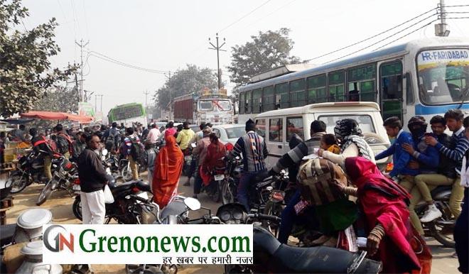 ROAD JAM PROBLEM IN JAHANGIRPUR GREATER NOIDA- GRENONEWS