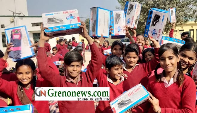 ROTARY CLUB GREEN GREATER NOIDA DISTRIBUTED SHOES AND SOCKS TO ECONOMICALLY WEAK CHILDRENS - GRENONEWS