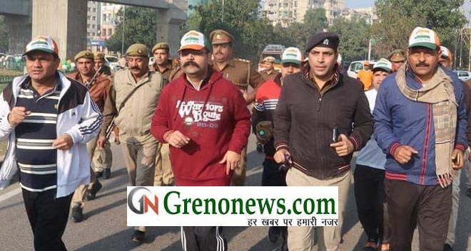 RUN FOR FUN ORGANIZED ON GREATER NOIDA FOUNDATION DAY- GRENONEWS