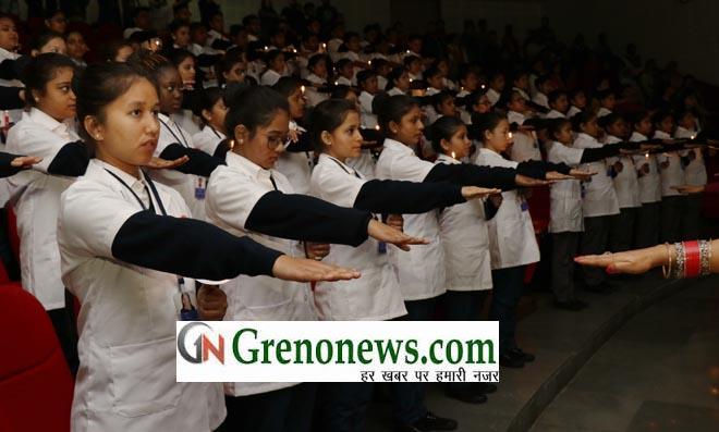 NURSING STUDENTS OF SHARDA UNIVERSITY TAKEN OATH OF SERVICE- GRENONEWS