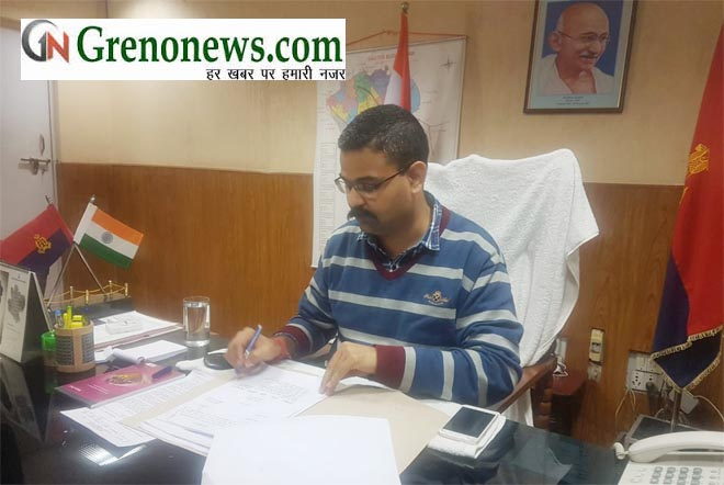 NEWLY APPOINTED SSP NOIDA VAIBHAV KRISHNA TAKE CHARGE - GRENONEWS