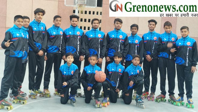 SELECTED TEAM FROM GREATER NOIDA FOR NATIONAL ROLLER BASKET BALL LEAVE TO CHANDIGARH