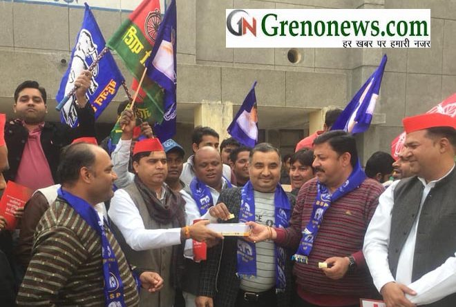 SAMAJWADI PARTY AND BSP WORKERS ARE HAPPY AFTER SP-BSP ALLIANCE- GRENONEWS