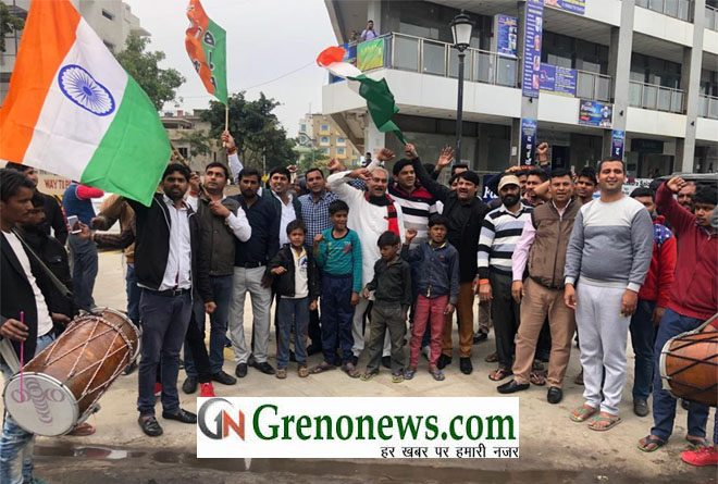 CELEBRATION OF AIR SURGICAL STRIKE IN GREATER NOIDA- GRENONEWS