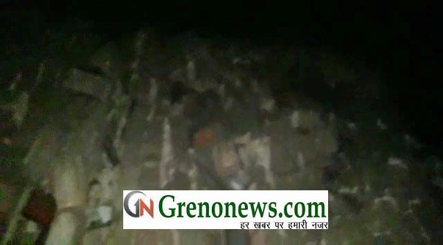 HOUSES FALL DUE TO RAIN AND STORM AT GREATER NOIDA- GRENONEWS
