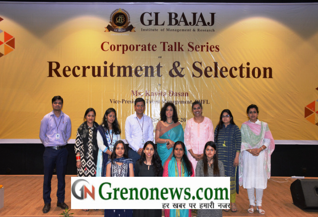 Workshop on recruitment and selection in Gl bajaj institute