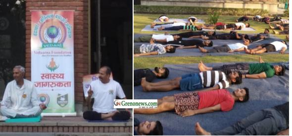 Yoga shivir organised by vedana foundation - Grenonews