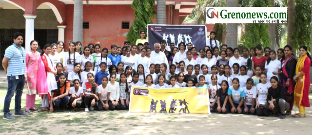 Self defence training by achran  shakti foundation in Uma Public school Maycha - Grenonews