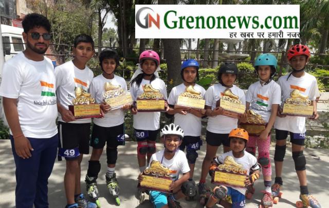 Skaters of Greater Noida make record in skating - Grenonews
