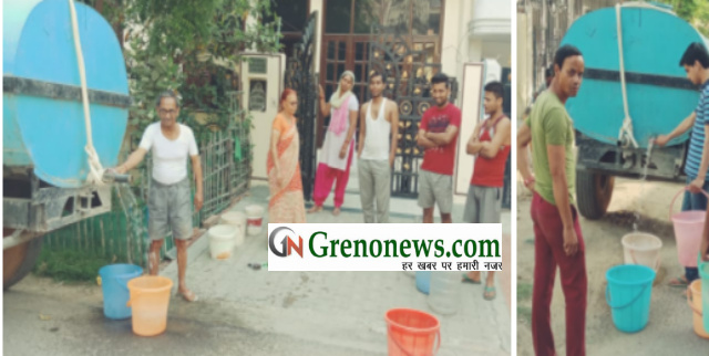Water supply crisis in Beta 1 sector Greater Noida - Grenonews