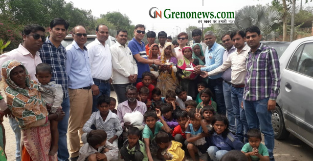 Greater Noida Press Club helped fire victim people - Grenonews