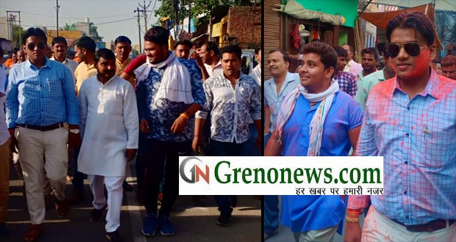 VIJAY JULUS IN JEWAR AFTER BJP GREAT VICTORY- GRENONEWS