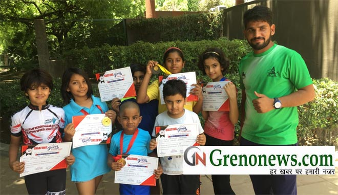 SKATERS OF GREATER NOIDA GOOD PERFORMANCE IN ROLLER SKATING CHAMPIONSHIP - GRENONEWS