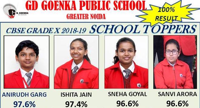 cbse 10th result gd goenka